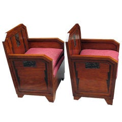 Pair of Finely Decorated Art Deco Bergeres