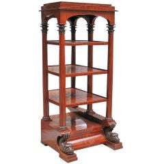 Exemplary German Neo-Classical Biedermeier Etagere/Vitrine