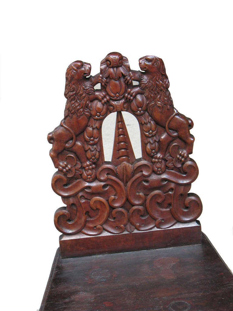Oustandingly wood carved german country chair for sale at
