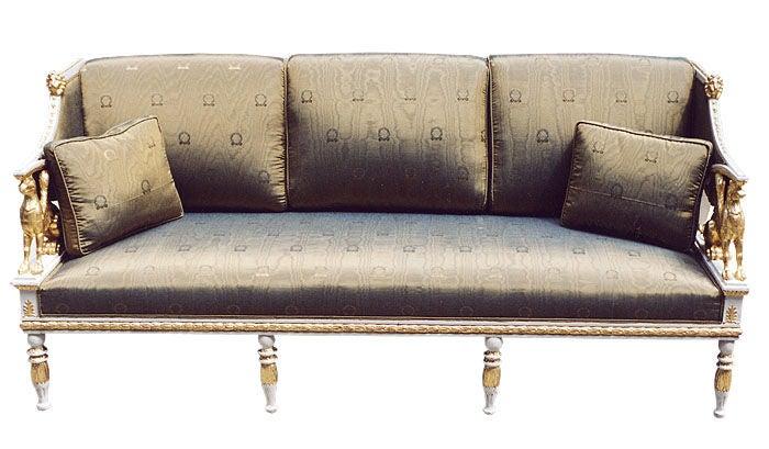 Rare late Gustavian Empire sofa image 2