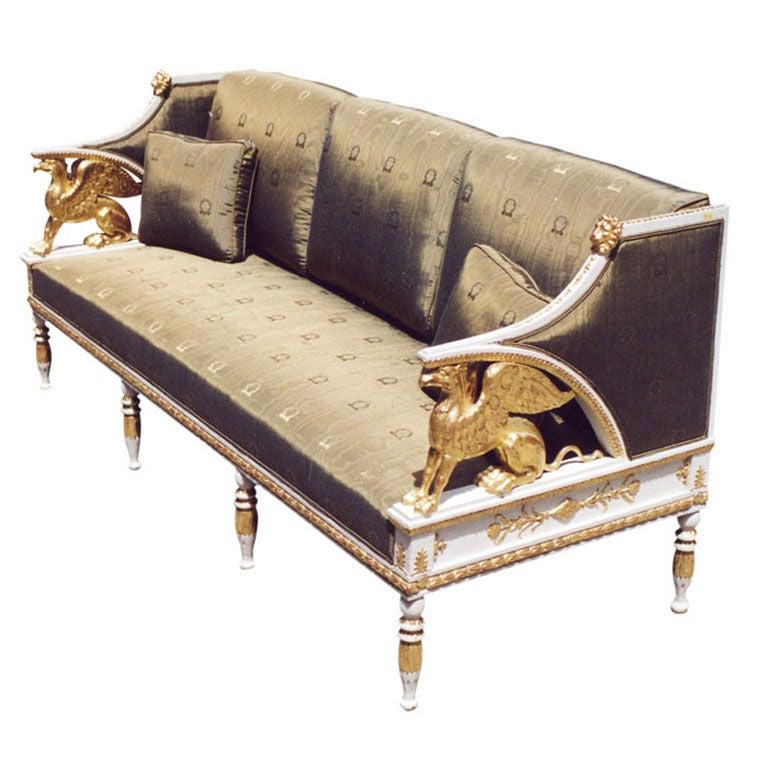 Rare late Gustavian Empire sofa 1