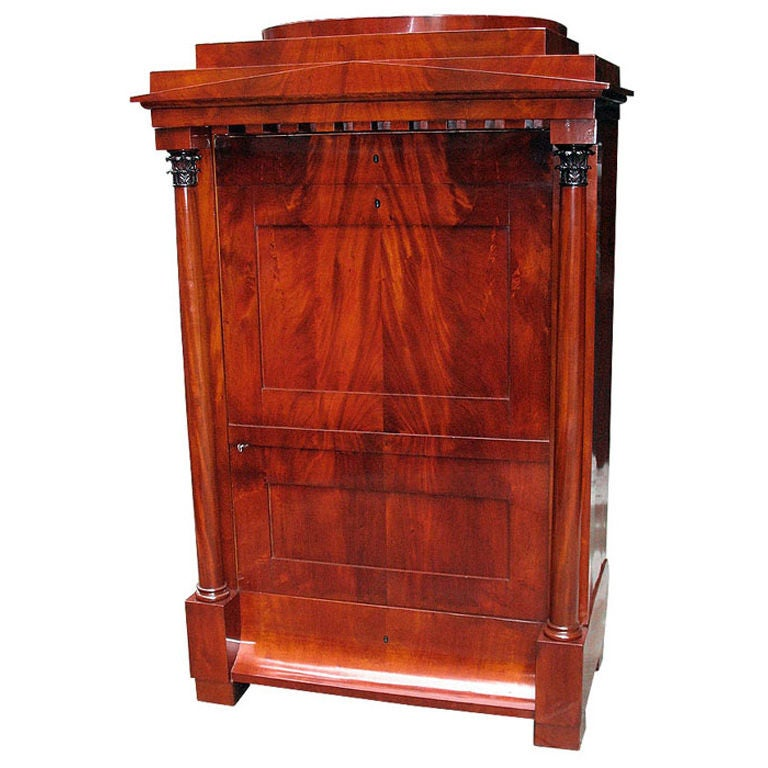 architectural biedermeier armoire faux secretaire for sale at 1stdibs. Black Bedroom Furniture Sets. Home Design Ideas