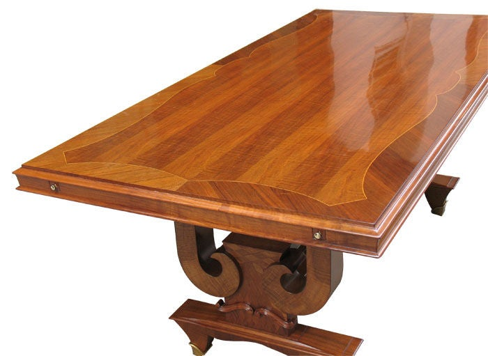 Oversized French Art Deco Dining Or Conference Table For