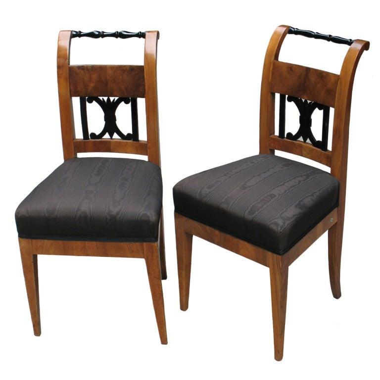 A Pair of Austrian Biedermeier Side Chairs at 1stdibs : XXXIMG3587copyA from www.1stdibs.com size 768 x 768 jpeg 59kB