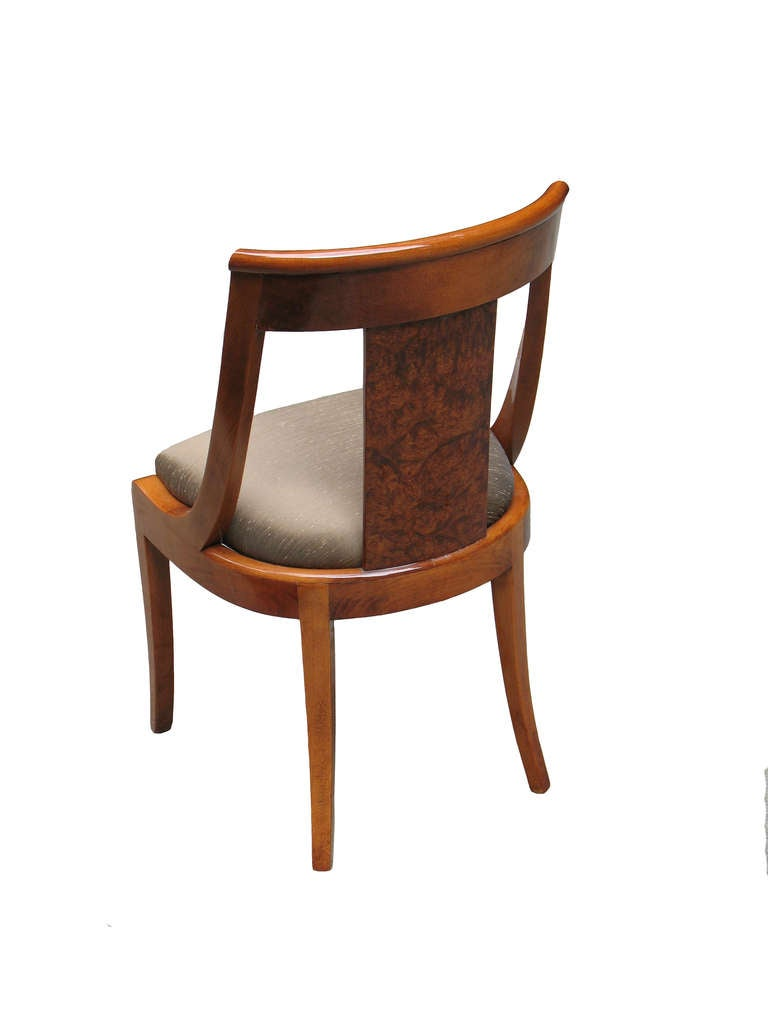 Rare Set Of Eight French Art Deco Side Chairs At 1stdibs