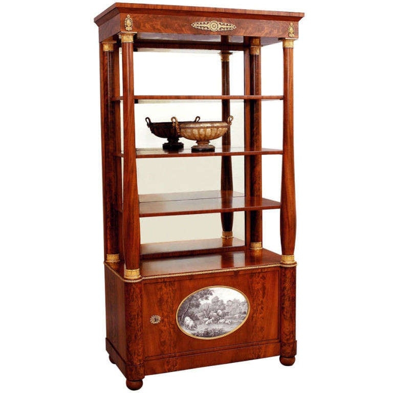 Empire etagere property of the queen of wuerttemberg at - Etagere vitrine ...