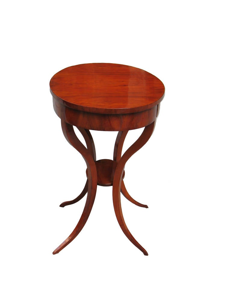 Unique biedermeier clismos leg side table for sale at 1stdibs for Interesting table legs
