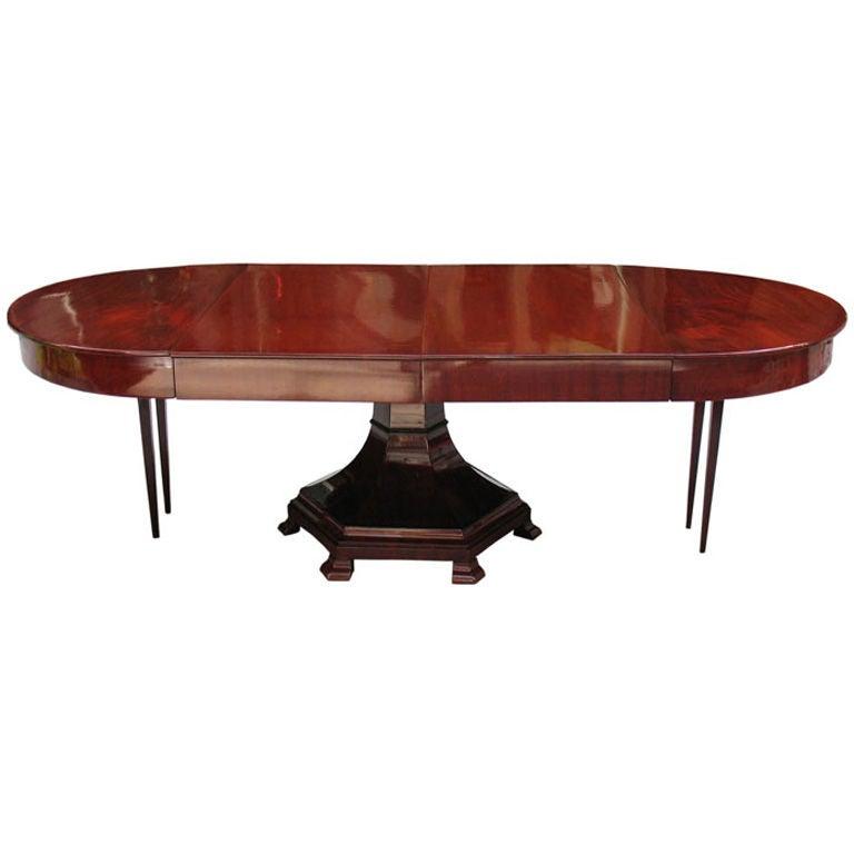 Unique Dinner Tables: Unique Biedermeier Extension Table To Seat Up To 20 People