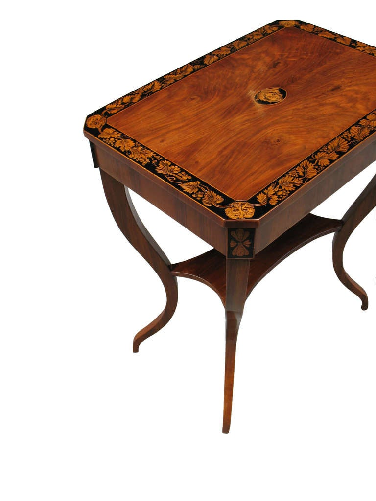 unique viennese biedermeier side table at 1stdibs. Black Bedroom Furniture Sets. Home Design Ideas