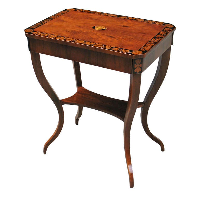 Unique viennese biedermeier side table at 1stdibs for Unusual tables