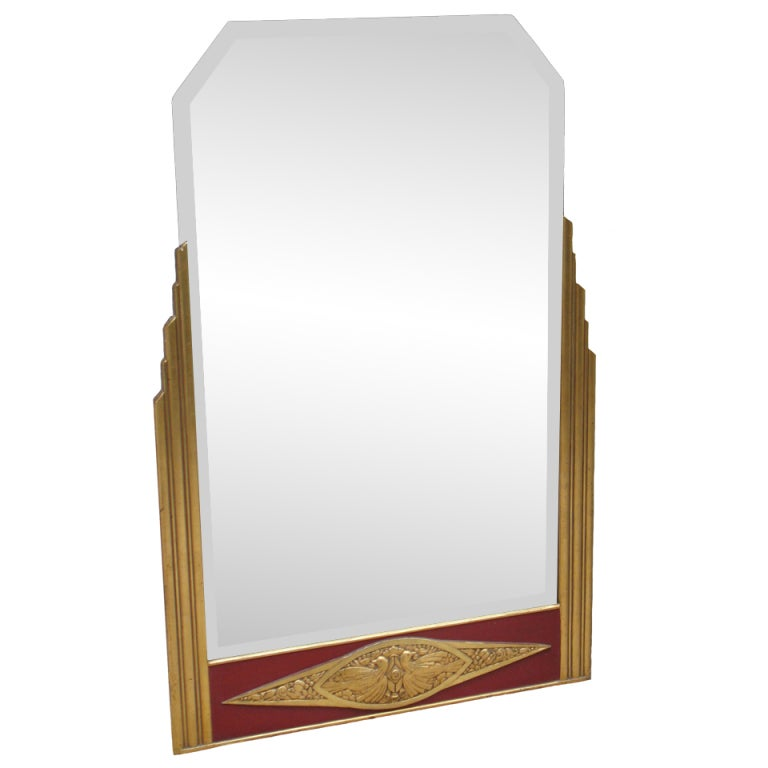 Exceptionally Designed French Art Deco Mirror At 1stdibs