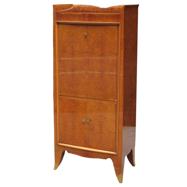 a finely detailed deco bar cabinet at 1stdibs
