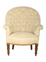 Antique Unupholstered Barrel Chair image 3