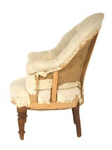 Antique Unupholstered Barrel Chair image 4