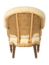 Antique Unupholstered Barrel Chair image 5