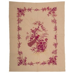 Vintage Embroidered Tapestry