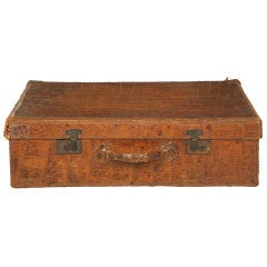 Antique Crocodile Valise