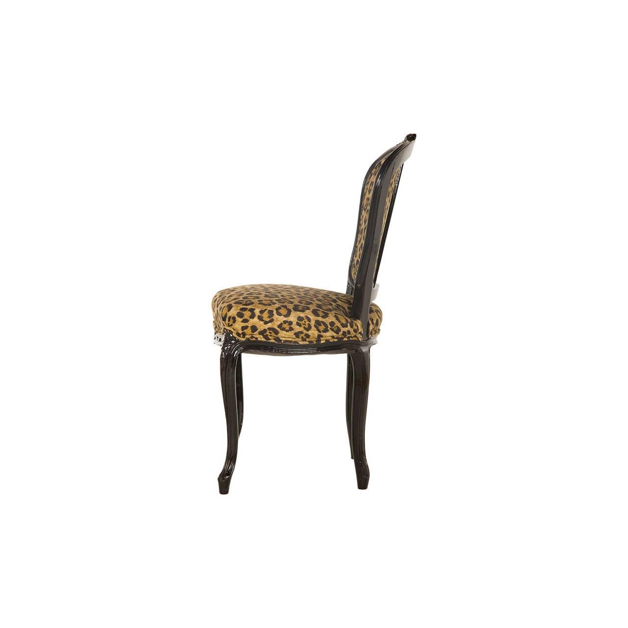 Vintage Leopard Print Cafe Chair at 1stdibs