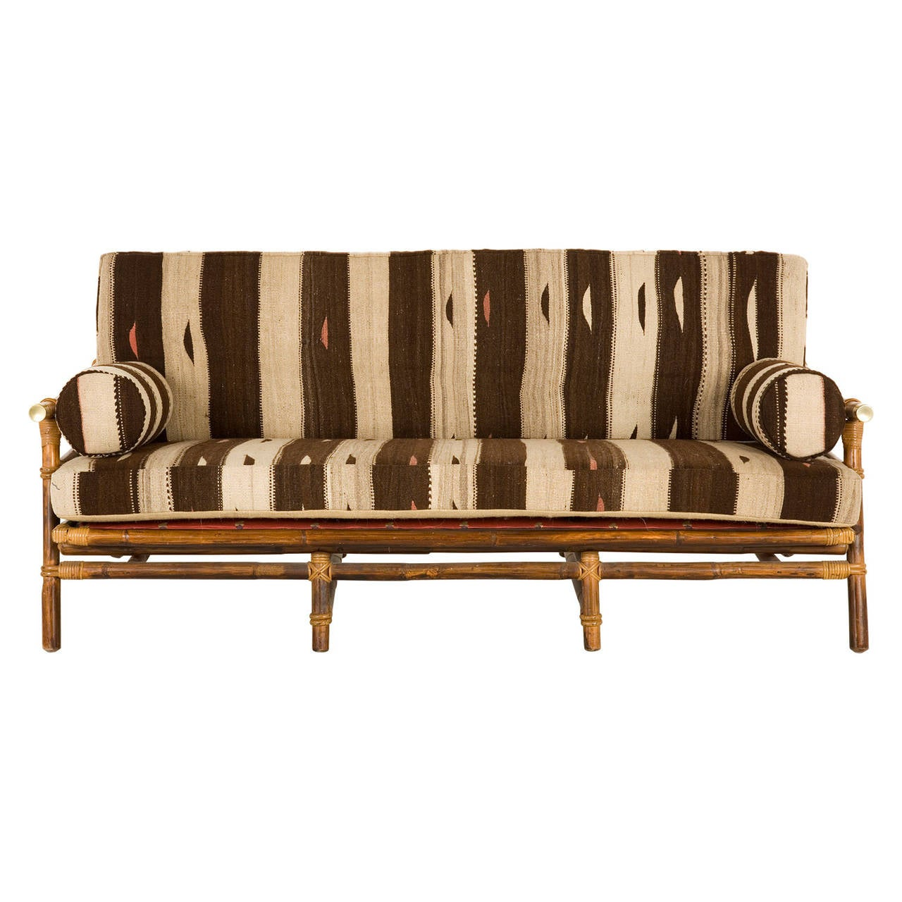 Design Bamboo Couch vintage bamboo sofa at 1stdibs 2