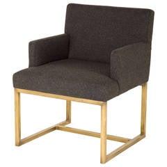 Vintage Brass Armchair