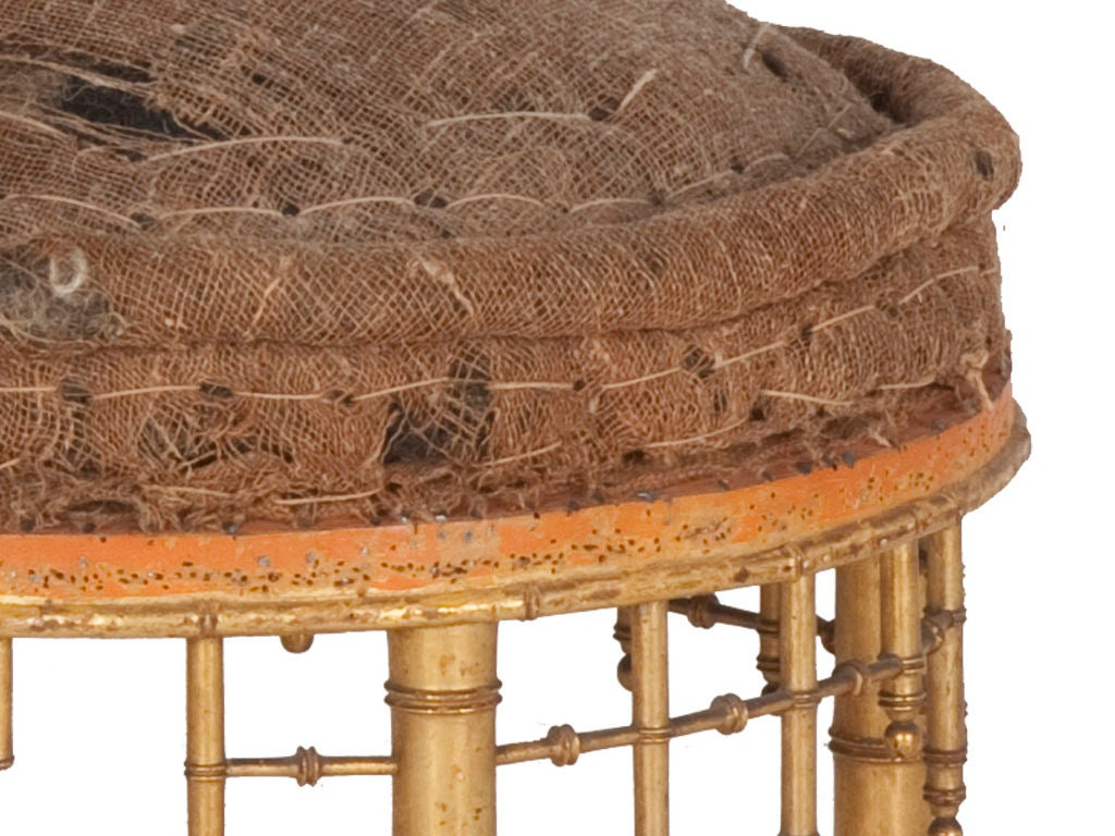 Antique Faux Bamboo Ottoman At 1stdibs