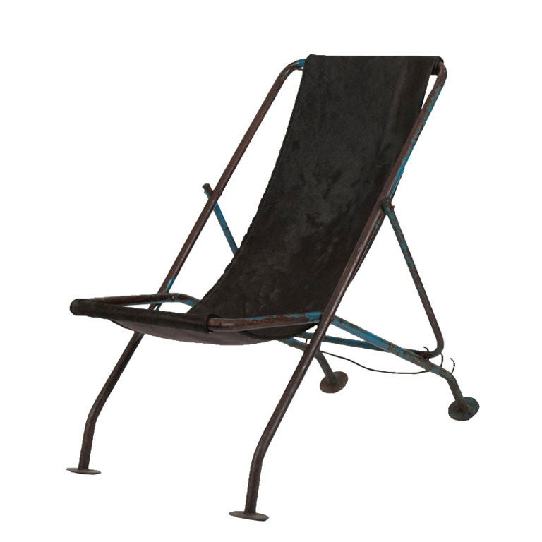 Vintage Folding Lounge Chair at 1stdibs