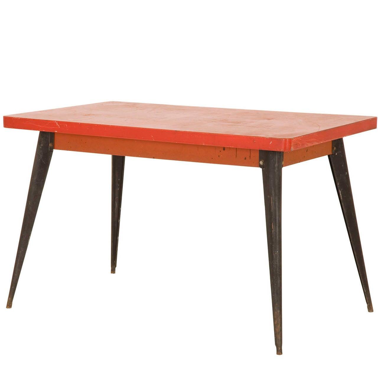Vintage metal tolix bistro table at 1stdibs for Table exterieur tolix