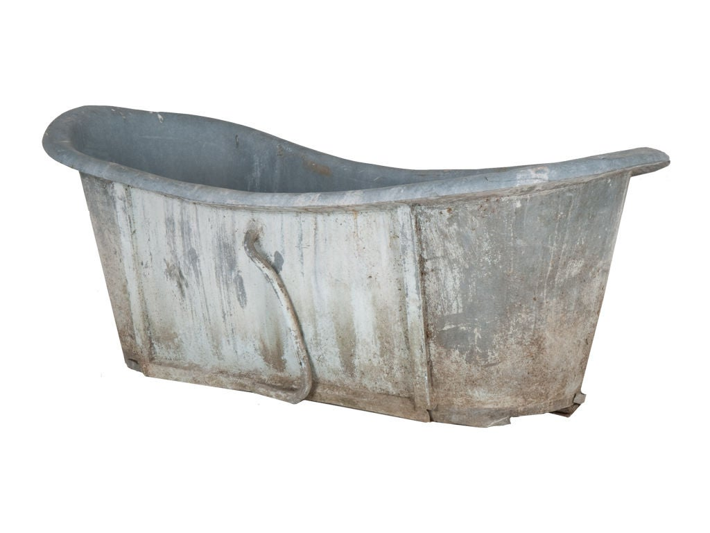 Antique Zinc Bathtub at 1stdibs