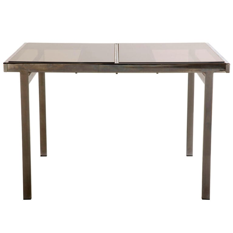 Dining table vintage chrome dining table - Retro chrome kitchen table ...