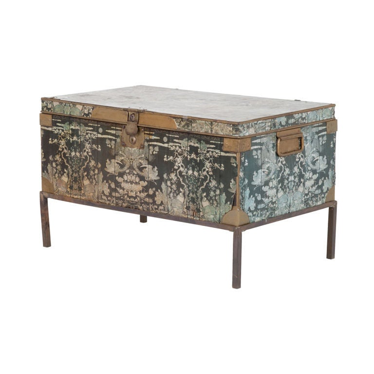 Vintage Chinoiserie Trunk At 1stdibs