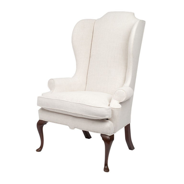 Vintage Wing Back Chair At 1stdibs