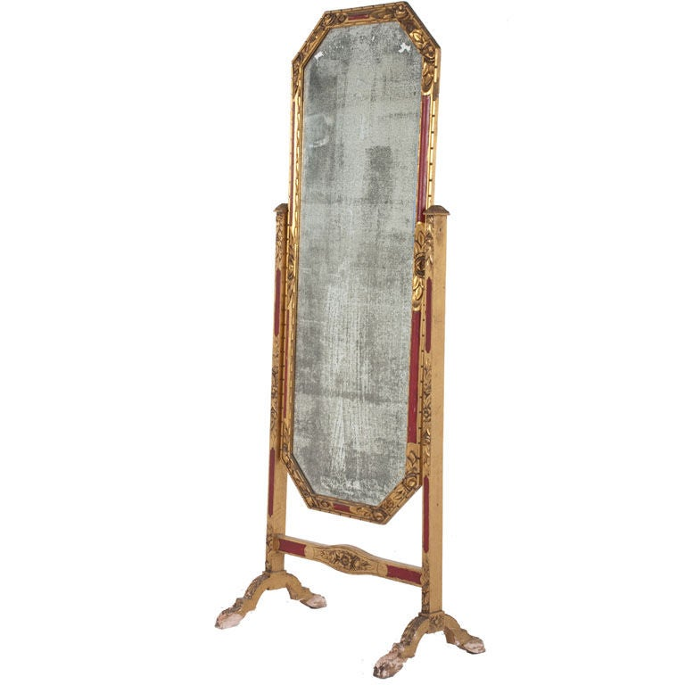 Antique cheval mirror at 1stdibs for Vintage floor length mirror