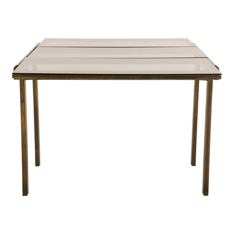 Vintage Brass Extending Dining Table At 1stdibs