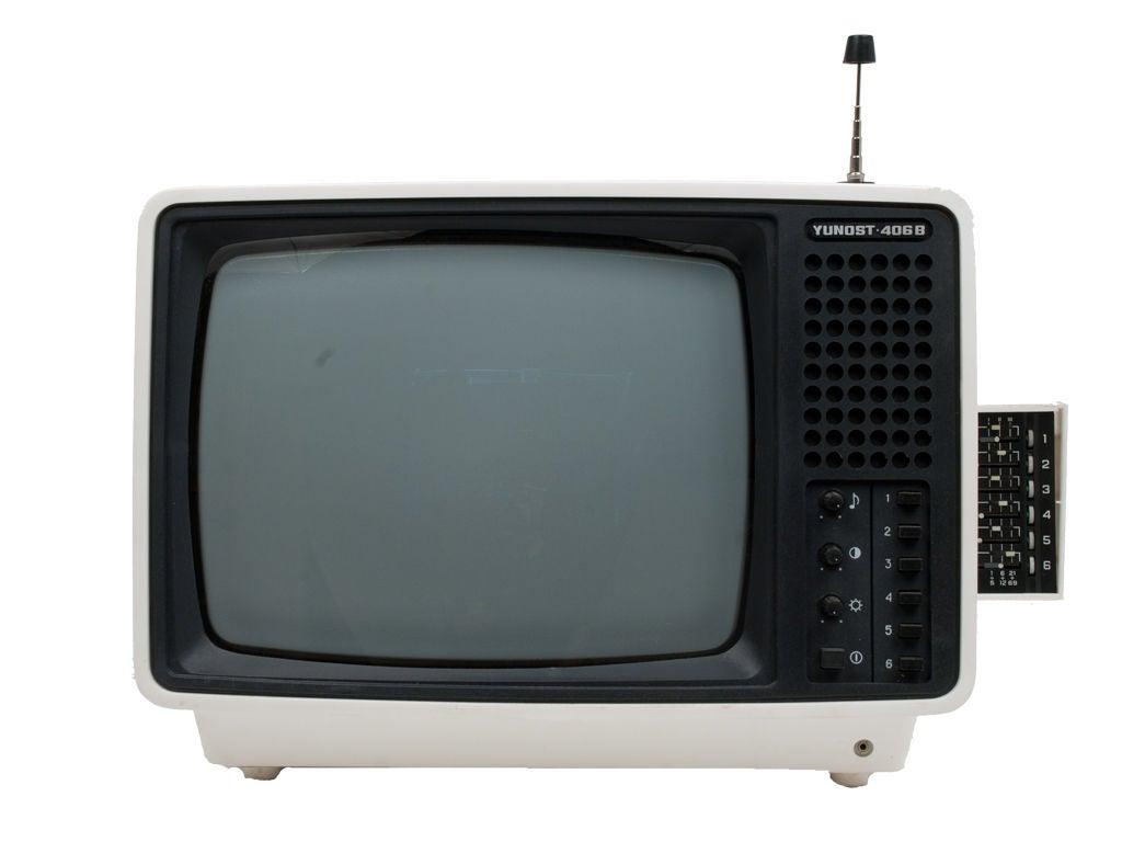 Vintage Soviet Television For Sale 1