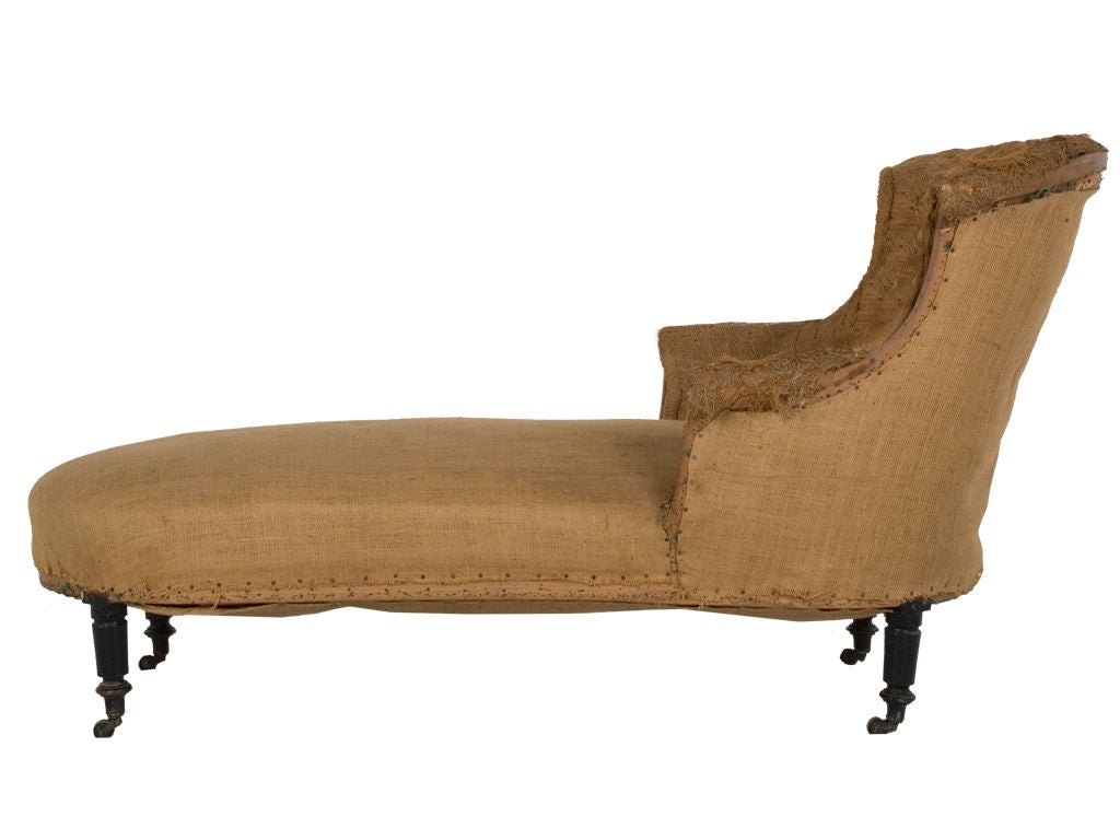 Antique unupholstered chaise lounge at 1stdibs for Antique reproduction chaise lounge