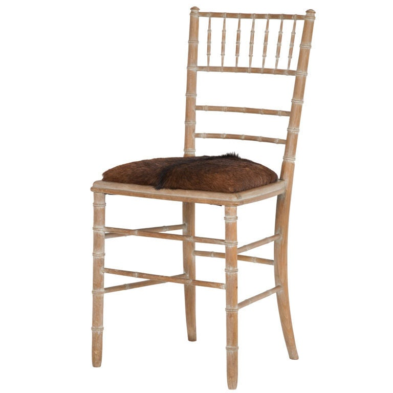 Vintage Faux Bamboo Chair At 1stdibs