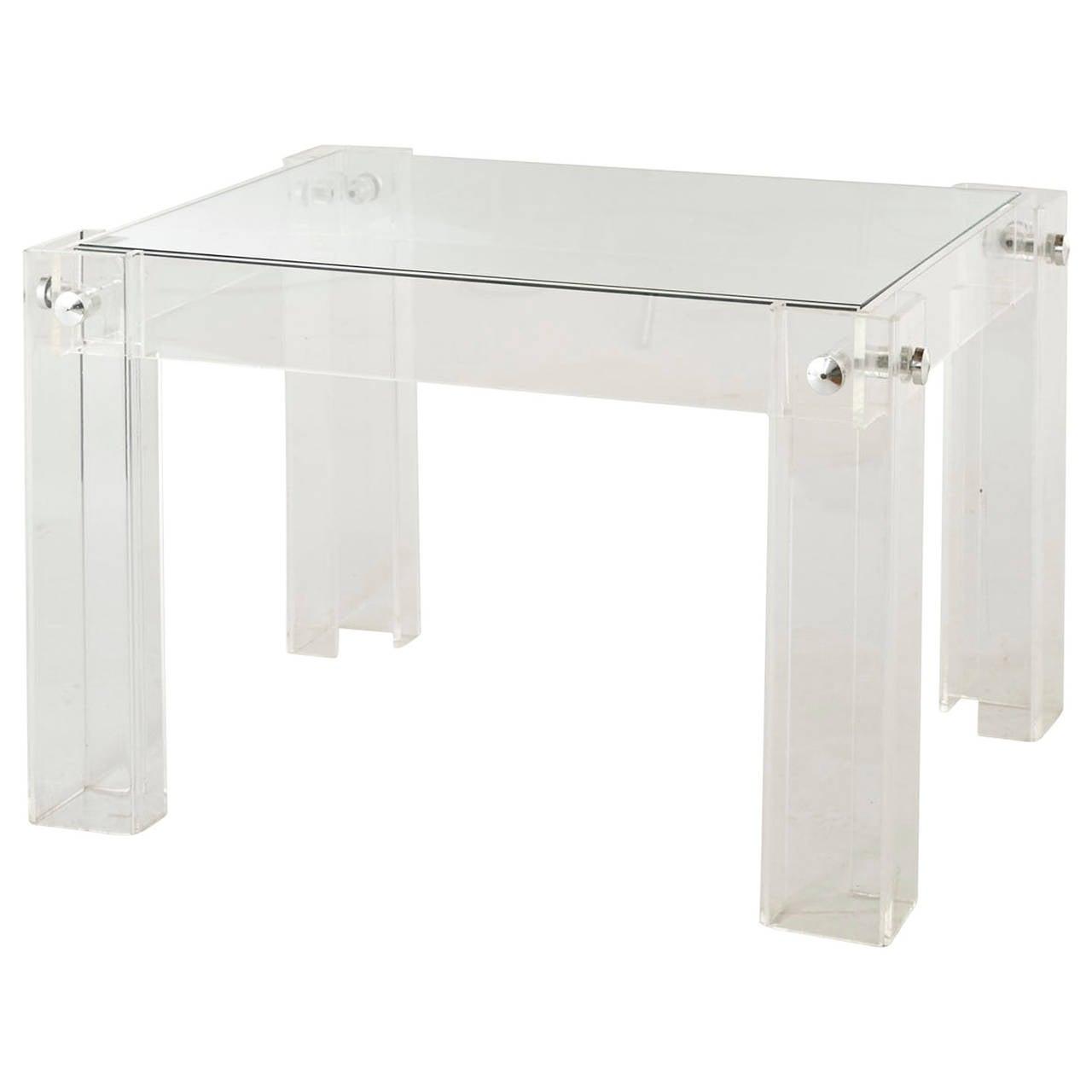 Vintage Lucite Side Table at 1stdibs