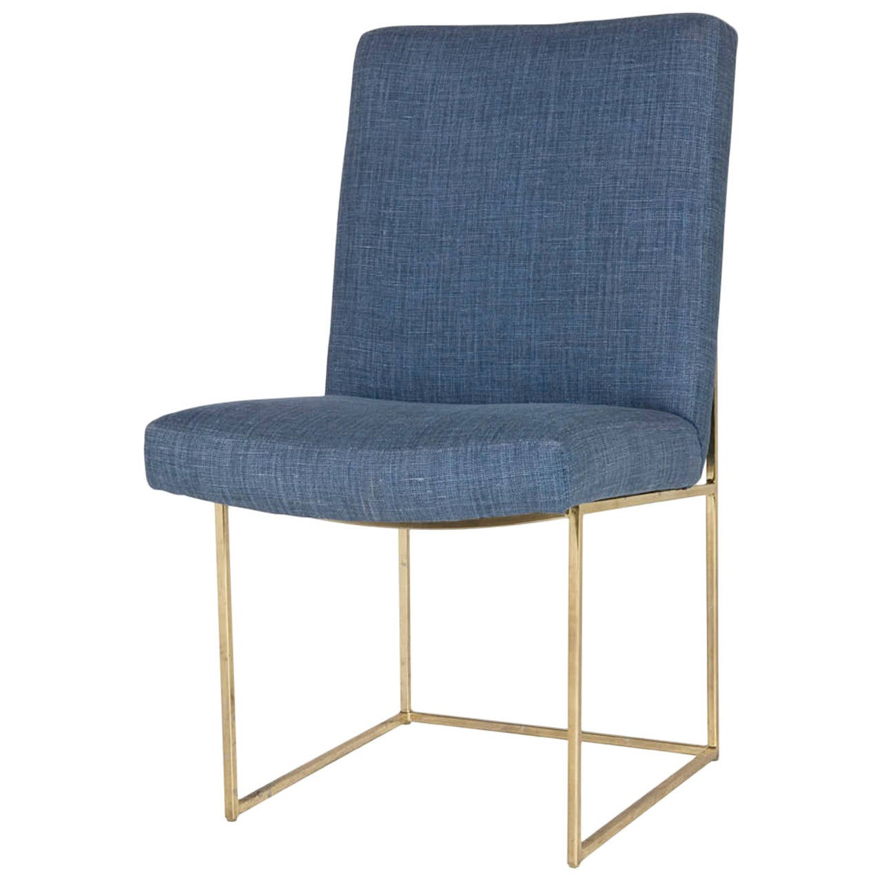 Vintage milo baughman brass dining chair at 1stdibs - Seating room chairs images ...