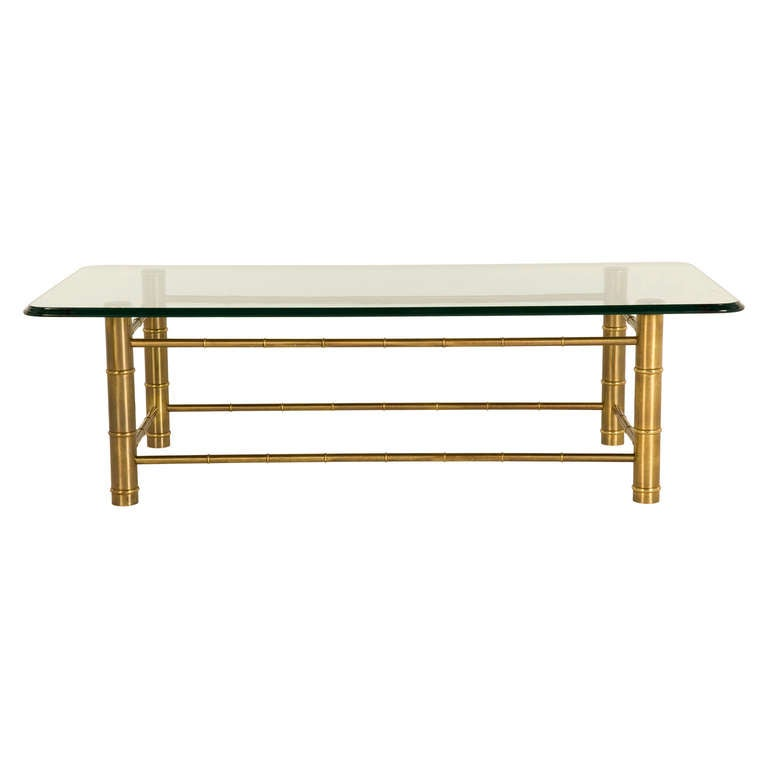 Vintage Brass Faux Bamboo Coffee Table At 1stdibs