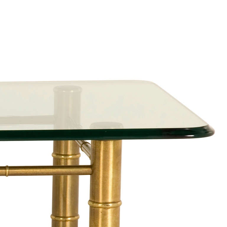 Brass Faux Bamboo Coffee Table: Vintage Brass Faux Bamboo Coffee Table At 1stdibs