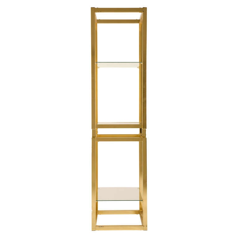 American Vintage Brass Etagere For Sale