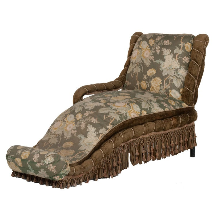 Antique napoleon iii chaise lounge at 1stdibs for Antique style chaise lounge