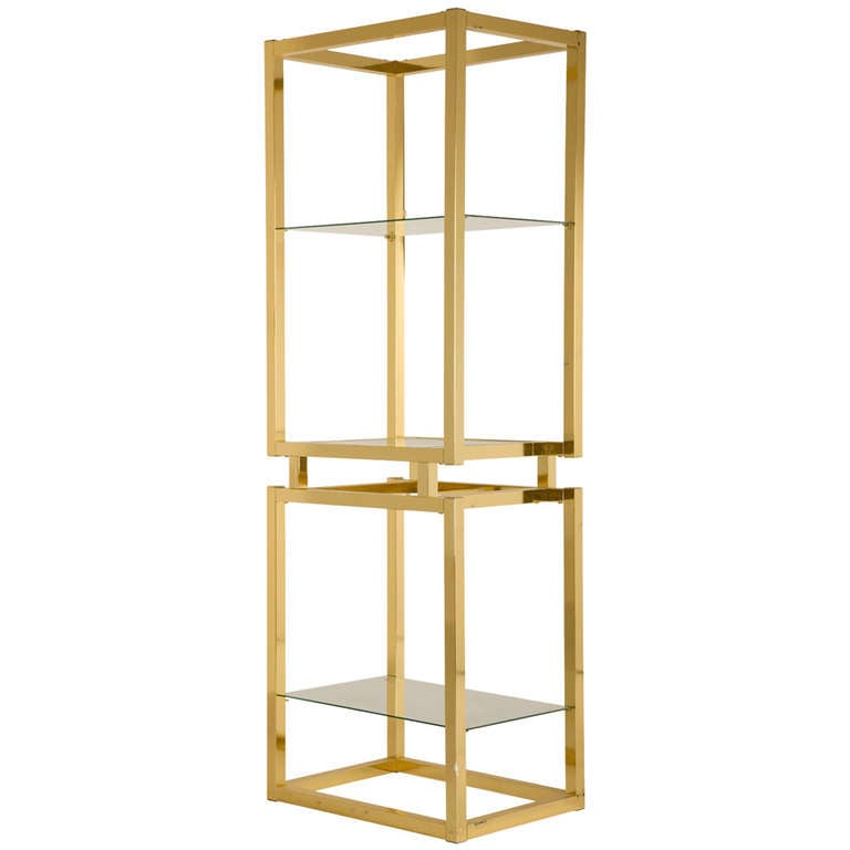vintage brass etagere at 1stdibs