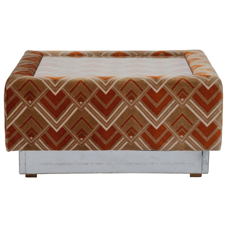 Vintage Upholstered Coffee Table At 1stdibs