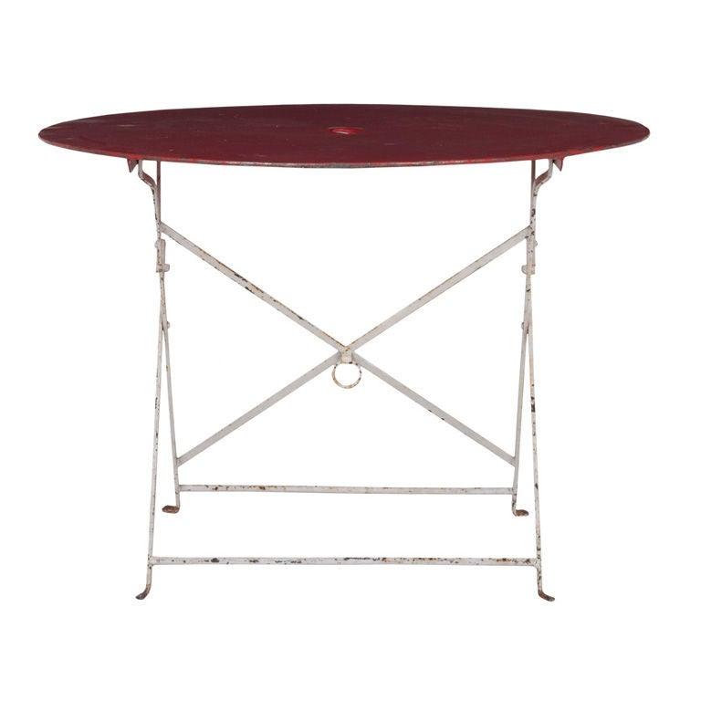 Vintage Folding Table : Vintage Folding Table at 1stdibs
