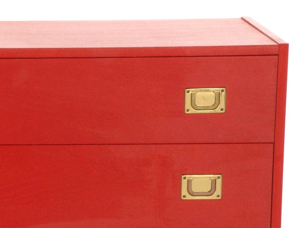 Vintage Red Dresser 2