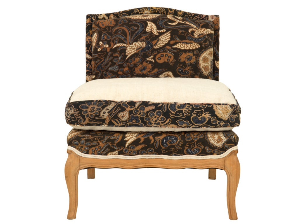 Vintage slipper chair at 1stdibs