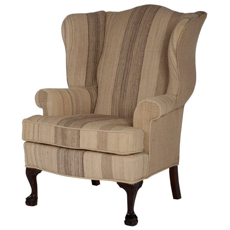 Vintage Wingback Chair 1 - Vintage Wingback Chair At 1stdibs