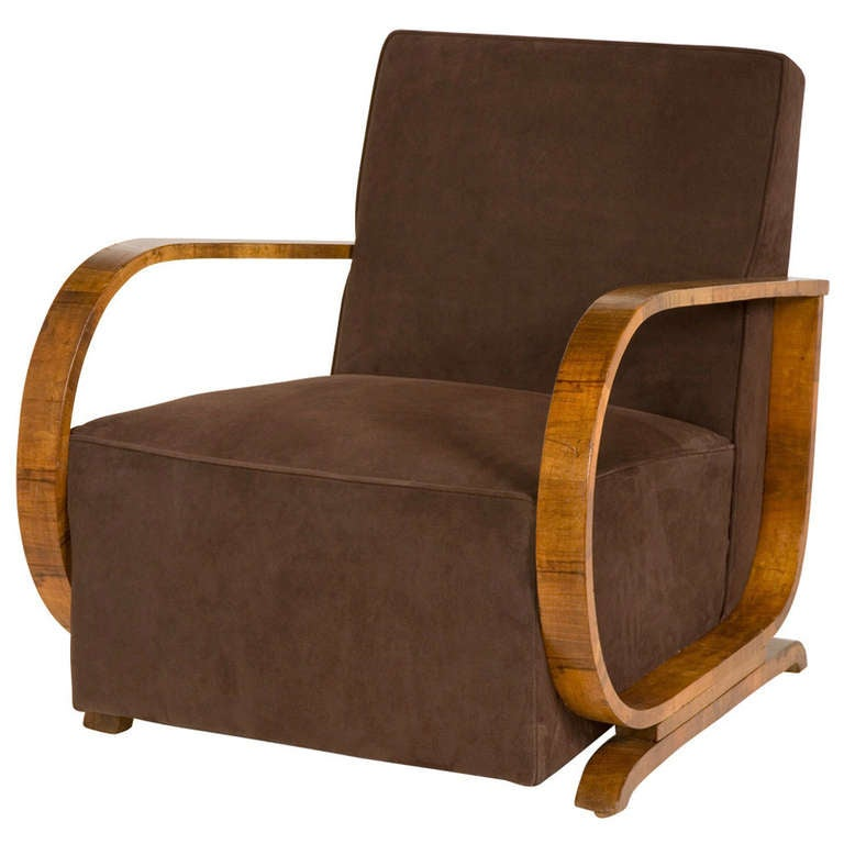 Vintage art deco armchair at 1stdibs for Art deco furniture chicago