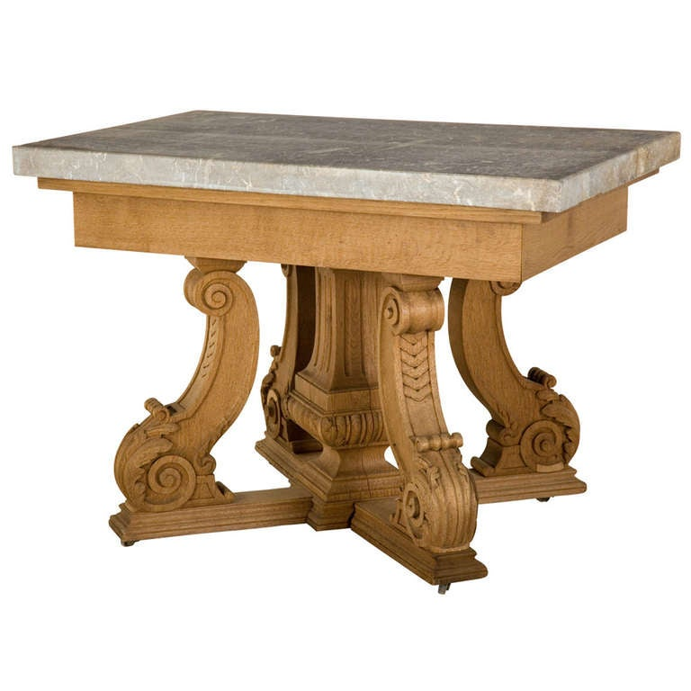 Antique carved marble top table at stdibs